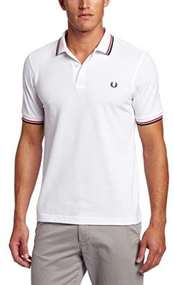 Fred Perry Men's M3600-B43 Polo, Black/Bright Yellow, S