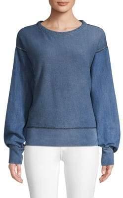 Rag & Bone Long-Sleeve Cotton Sweatshirt