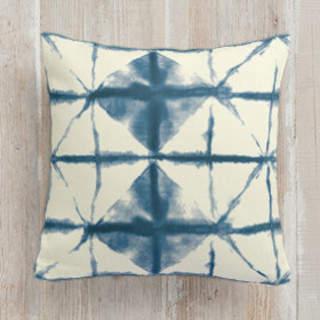 Hand-dyed Shibori Diamonds Square Pillow