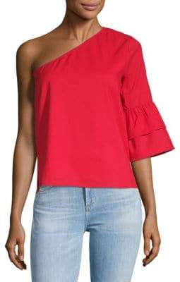 Lucca Couture Isabelle One-Shoulder Cotton Top