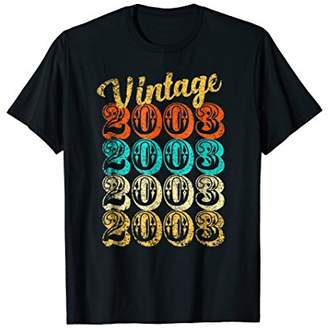 15th Birthday Gift 15 Year old Vintage 2003 Shirt Men Women
