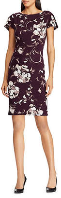 Lauren Ralph Lauren Floral Print Flutter-Sleeve Dress