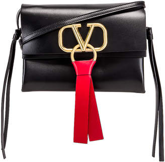 Valentino VRing Crossbody Bag in Nero | FWRD