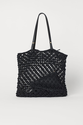 H&M Braided Bag with Clutch - Black