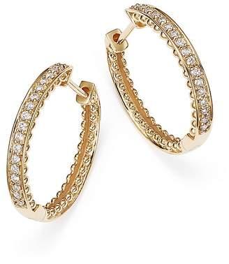 Bloomingdale's Diamond Beaded Edge Hoop Earrings in 14K Yellow Gold, .20 ct. t.w.
