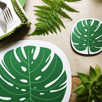 Beyond the Fridge Monstera Leaf Design Placemat And Coaster