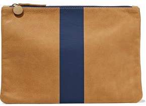 Clare Vivier Two-Tone Suede Pouch