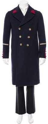Gucci Wool & Cashmere-Blend Double-Breasted Coat