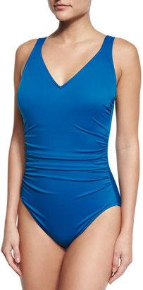Magicsuit Steffi Bar-Detail One-Piece Swimsuit $152 thestylecure.com