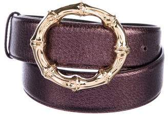 Gucci Metallic Bamboo Buckle Belt