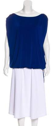 Halston Bateau Neck Sleeveless Top