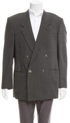 Gianni Versace Vintage Textured Double-Breasted Blazer