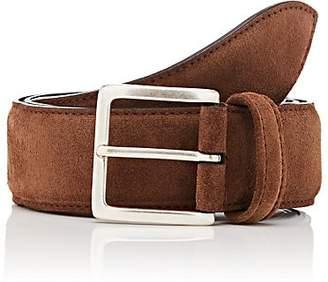 Barneys New York Men's Suede Belt - Brown