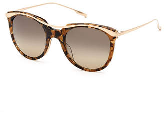 Salt Elkins Rounded Square Polarized Sunglasses, Tortoise/Gold