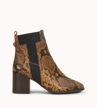 Tod's Tods Ankle Boots in Reptile-Printed Leather