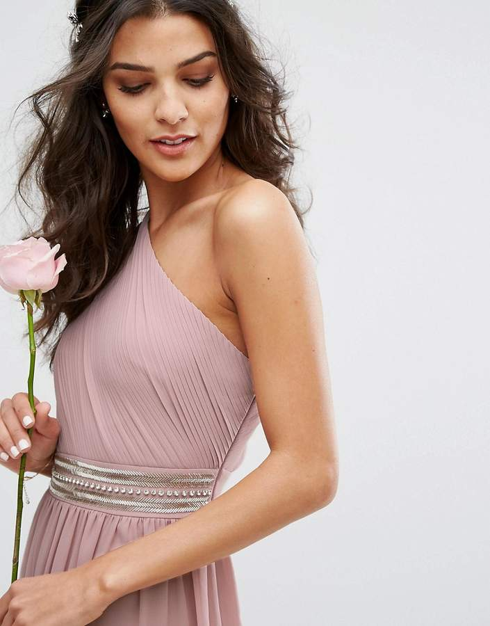 TFNC Wedding One Shoulder Embellished Maxi Dress
