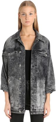 Bleached Ruffled Cotton Denim Jacket $298 thestylecure.com