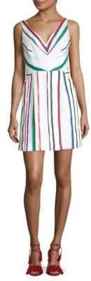 Milly Mitered Stripe Sheath Dress