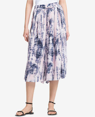 DKNY Printed Pull-On Culottes