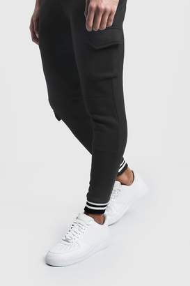 Cargo Joggers With Sports Rib Detail