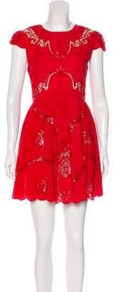 Alice + Olivia Lace-Accented Mini Dress w/ Tags