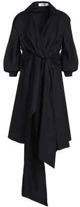 Chalayan Tie-Front Draped Cotton-Poplin Shirtdress