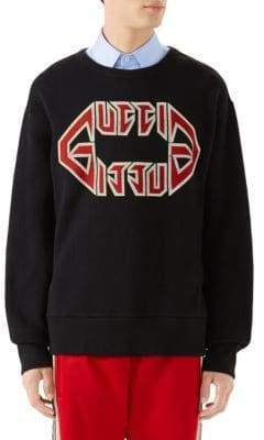 Gucci Men's Metal Print Sweatshirt - Black Red White - Size XL