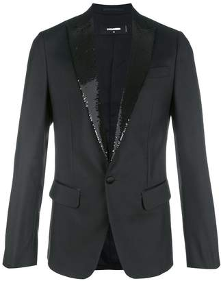 DSQUARED2 sequin-trimmed tuxedo jacket