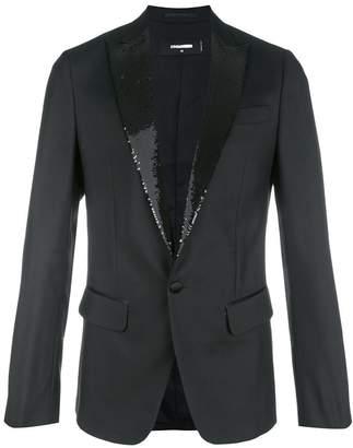 DSQUARED2 sequin-trimmed tuxedo jacket