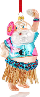 Holiday Lane Dancing Santa In Hula Skirt with Flower Ornament, Created for Macy's