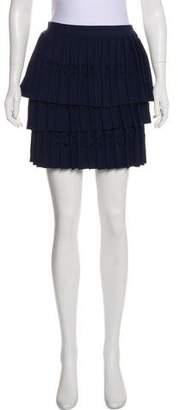 Self-Portrait Pleated Tiered Skirt
