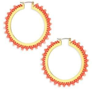 Kate Spade Wrap It Up Coral Hoop Earrings