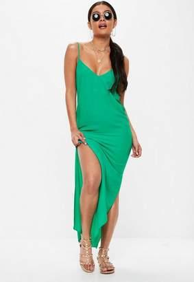 Missguided Green Maxi Dress