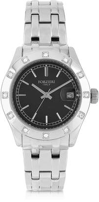 Forzieri Roma Stainless Steel and Crystals Women's Watch