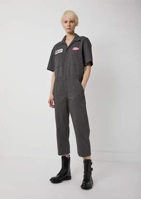 R 13 Mechanic Jumpsuit Charcoal Pinstripe