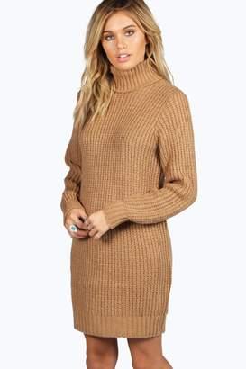 boohoo Roll Neck Soft Knit Jumper Dress