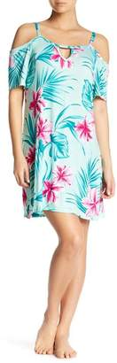 Couture Curvy The Tropica Garden Night Cold Shoulder Shift Dress