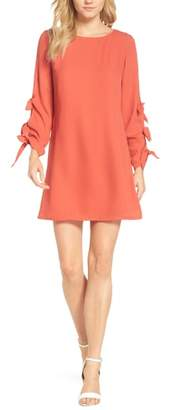 FOREST LILY Bow Sleeve Sheath Dress