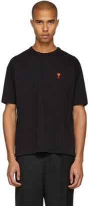 Ami Alexandre Mattiussi SSENSE Exclusive Black Boxy Ami de Coeur T-Shirt