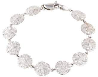14K Sand Dollar Link Bracelet