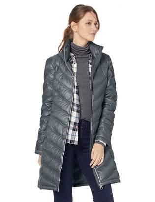Calvin Klein Women's Chevron Packable Down Coat, Medium