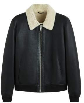 Mango Man MANGO MAN Sheepskin-lined leather jacket
