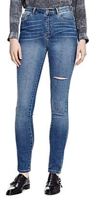 The Kooples Distressed Franky Skinny Jeans in Blue