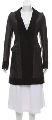 Reed Krakoff Paneled Knee-Length Coat