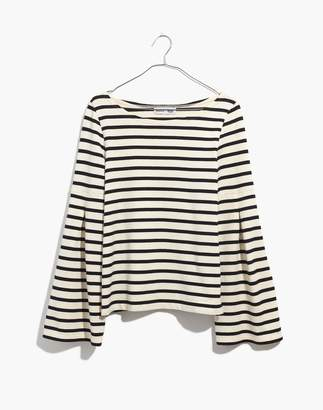 Madewell x Armor-Lux Flare-Sleeve Striped Top