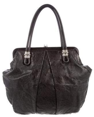 Alexander McQueen Pleated Leather Tote
