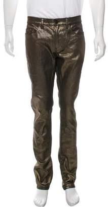 Saint Laurent 2017 D02 Metallic Skinny Jeans w/ Tags bronze 2017 D02 Metallic Skinny Jeans w/ Tags