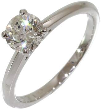 De Beers Platinum Solitaire 0.731ct Diamond Ring Size 5.5