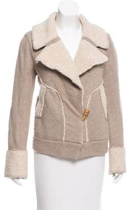 White + Warren Notch-Lapel Knit Jacket