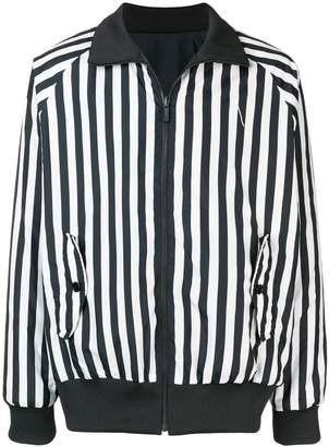 Y-3 reversible striped bomber jacket
